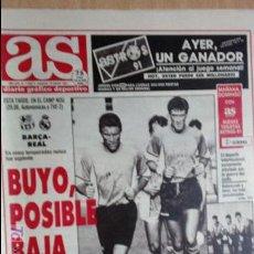 Coleccionismo deportivo: AS-1991-Nº7356-BARSA-R.MADRID-BUYO,POSIBLE BAJA-. Lote 21125735