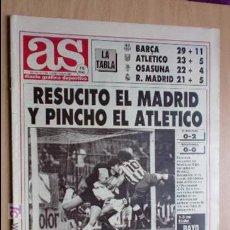 Coleccionismo deportivo: AS-1991-Nº7344-RESUCITO EL MADRID Y PINCHO EL ATLETICO. Lote 21125744