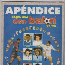 Coleccionismo deportivo: APÉNDICE EXTRA DON BALON LIGA 97 - 98. Lote 49117136