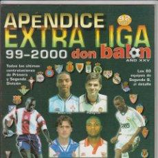 Coleccionismo deportivo: APÉNDICE EXTRA DON BALON LIGA 99-2000. Lote 83787636