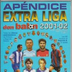 Coleccionismo deportivo: APÉNDICE EXTRA DON BALON LIGA 2001-02. Lote 49117227
