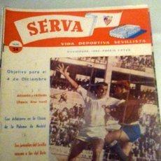 Coleccionismo deportivo: REVISTA SERVA - VIDA DEPORTIVA SEVILLISTA Nº 24 - NOVIEMBRE 1960 - SEVILLA FC. Lote 49143675