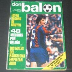 Coleccionismo deportivo: REVISTA DON BALON AÑO II - NÚMERO 37 - 15 DE JUNIO DE 1976 - PORTADA CRUYFF. Lote 49151647