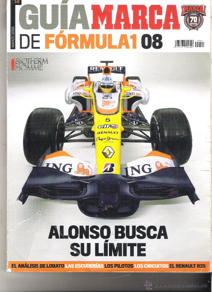 GUIA MARCA 2008 - FORMULA 1 - ALONSO BUSCA SU LIMITE (Coleccionismo Deportivo - Revistas y Periódicos - Marca)