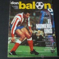 Coleccionismo deportivo: REVISTA DON BALON AÑO II - NÚMERO 77 - 28 DE MARZO AL 3 DE ABRIL 1977 - PORTADA PEREIRA AT. MADRID. Lote 49160990