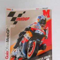 Coleccionismo deportivo: GUIA MARCA MOTOCICLISMO. AÑO 2007. MOTO GP. ARRANCA UNA NUEVA ERA. TDKR3. Lote 156768336