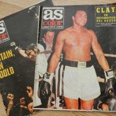 Coleccionismo deportivo: AS COLOR SEMANARIO GRÁFICO DEPORTIVO Nº64 Nº 64 CASSIUS CLAY AÑO 1972 REGALO EL Nº31 URTAIN BOXEO. Lote 49257374