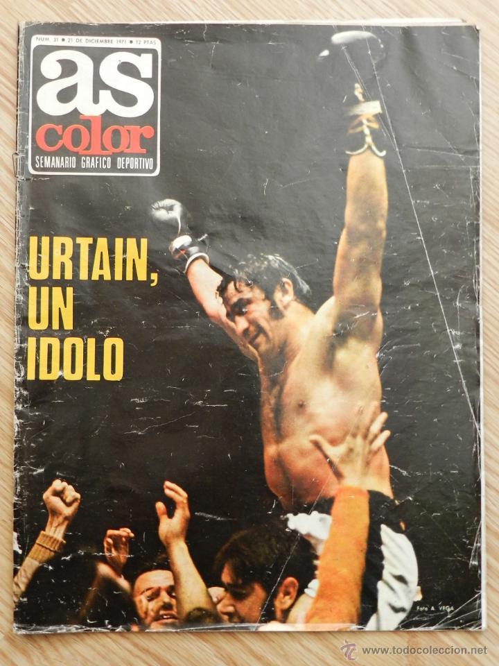 Coleccionismo deportivo: As color semanario gráfico deportivo nº64 nº 64 Cassius Clay Año 1972 regalo el nº31 Urtain Boxeo - Foto 5 - 49257374