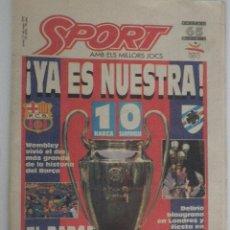 Coleccionismo deportivo: DIARIO SPORT - Nº 4496 - 21/5/92 - FINAL COPA EUROPA - BARÇA · SAMPDORIA - WEMBLEY - 1ª EDICIÓN !. Lote 49289201