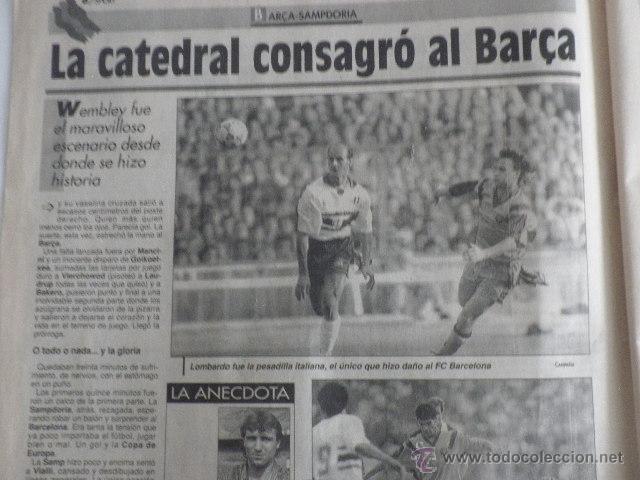Coleccionismo deportivo: Diario Sport - nº 4496 - 21/5/92 - Final Copa Europa - Barça · Sampdoria - Wembley - 1ª Edición ! - Foto 2 - 49289201
