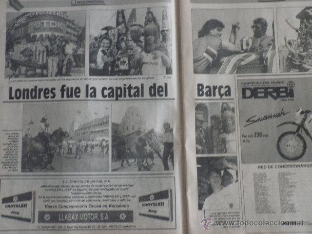 Coleccionismo deportivo: Diario Sport - nº 4496 - 21/5/92 - Final Copa Europa - Barça · Sampdoria - Wembley - 1ª Edición ! - Foto 4 - 49289201