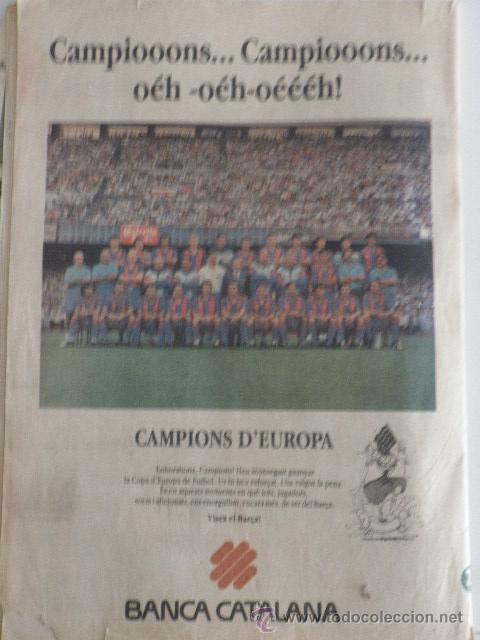 Coleccionismo deportivo: Diario Sport - nº 4496 - 21/5/92 - Final Copa Europa - Barça · Sampdoria - Wembley - 1ª Edición ! - Foto 5 - 49289201