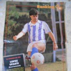 Coleccionismo deportivo: POSTER LOPEZ UFARTE.R.SOCIEDAD.DON BALON.. Lote 49359957