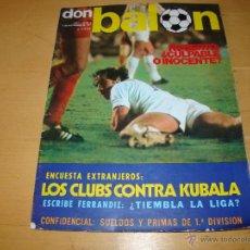 Coleccionismo deportivo: LOTE DE REVISTAS DON BALÓN - AÑOS 1975 Y 1977 (VER FOTOS). Lote 49399543