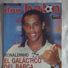 Coleccionismo deportivo: DON BALON Nº 1449 - 2003 - RONALDINHO NUEVO JUGADOR DEL BARCELONA - SIMEONE VUELVE AL ATLETICO . Lote 49429894