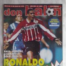 Coleccionismo deportivo: DON BALON Nº 1082 - 1996 - RONALDO, DE LA PEÑA...POSTER ALEMANIA CAMPEONA EUROCOPA 1996. Lote 49429972