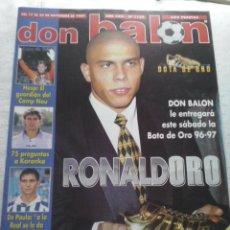Coleccionismo deportivo: DON BALON Nº 1153 - 1997 - RONALDO BOTA DE ORO - HESP - KARANKA - DE PAULA - POSTER MALLORCA. Lote 49432867