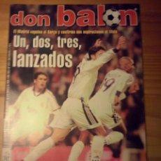 Coleccionismo deportivo: DON BALON Nº 1272 - 2000 - REAL MADRID 3 BARCELONA 0 - HIDDINK - VAN NISTELROOIJ - POSTER KIKO. Lote 49441452