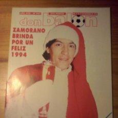 Coleccionismo deportivo: DON BALON Nº 947 - 1993 - ZAMORANO REAL MADRID - POSTER MADRID CAMPEON SUPERCOPA. Lote 49441853