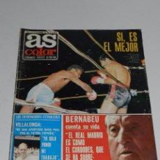Coleccionismo deportivo: (M) AS COLOR N. 84 DICIEMBRE 1972 PORTADA BOXEADOR JOSE LEGRA ,POSTER GEORGE BEST, MANCHESTER UNITED. Lote 49466237