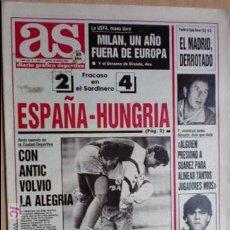 Coleccionismo deportivo: AS-1991-Nº7424-LUIS ENRIQUE,EN ORBITA-. Lote 21125500