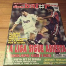 Coleccionismo deportivo: DON BALON Nº 1024 - 1995 - BARCELONA-REAL MADRID - KODRO - AJAX AMSTERDAM CAMPEON EUROPA. Lote 49523139