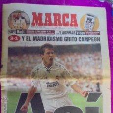 Coleccionismo deportivo: MARCA 15/JUNIO/1997 - 27ª LIGA REAL MADRID - EL MADRIDISMO CAMPEON - 800.000 PERSONAS EN CIBELES. Lote 49564817