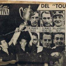 Coleccionismo deportivo: REVISTA VIDA DEPORTIVA Nº 928 AÑO 1958. Lote 49601822