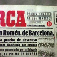 Coleccionismo deportivo: PERIODICO DEPORTIVO MARCA, 26 DE FEBRERO DE 1943, Nº 80, CARMEN ROMEU VENCE, ATLETICO DE AVIACION. Lote 49622360
