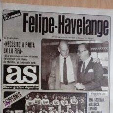 Coleccionismo deportivo: AS-1984-Nº5160-HAVELANGE,VALEDOR DE PORTA-. Lote 21126205