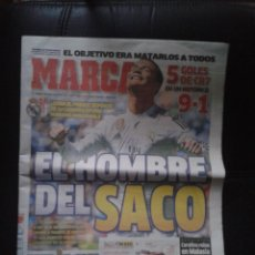 Coleccionismo deportivo: DIARIO MARCA 6 ABRIL 2015 CRISTIANO RONALDO 5 GOLES EN LIGA CR7 CONTRA GRANADA REAL MADRID FÚTBOL. Lote 49666513