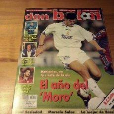 Coleccionismo deportivo: DON BALON Nº 1154-1997-MORIENTES-RONALDO-PENEV-AMATO MALLORCA-REAL SOCIEDAD-POSTER CELTA VIGO. Lote 49667978