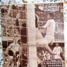 Coleccionismo deportivo - SEMANARIO ANTIGUO VIDA DEPORTIVA FC BARCELONA GENSANA LIGA 58/59 RCD ESPAÑOL ESPANYOL FUTBOL VINTAGE - 49678117