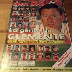 Coleccionismo deportivo: DON BALON Nº 1170-1998-CLEMENTE-ETXEBERRIA-MENDIETA-BARCELONA CAMPEON SUPERCOPA EUROPA-POSTER . Lote 49687350