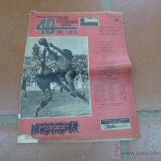 Coleccionismo deportivo: ANTIGUA REVISTA MUNDO DEPORTIVO DE 1968, ESPECIAL 40 AÑOS DE LIGA. FUTBOL. Lote 49719325
