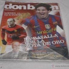 Coleccionismo deportivo: DON BALON Nº 1796. MESSI VS RONEY, BATALLA POR LA BOTA DE ORO. VICENTE DEL BOSQUE.. Lote 236110125