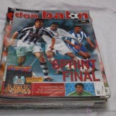 Coleccionismo deportivo: DON BALON Nº 1443. SPRINT FINAL. CAVALLERO. POSTER DE RAUL. ELECCIONES BARCELONISTAS.. Lote 243533130