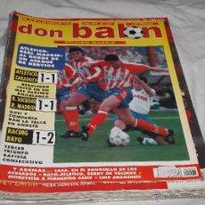 Collectionnisme sportif: DON BALON Nº 1067. ATLETICO - REAL MADRID. RAYO - ATLÉTICO. GUTI. RAYO. MAL PARTIDO ROJIBLANCO.. Lote 49888818