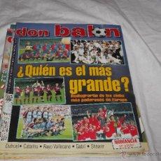Coleccionismo deportivo: DON BALON Nº 1250. CLUBS MÁS PODEROSOS DE EUROPA. SHEARER. GABRI, RAYO. NUMANCIA EN POSTER.. Lote 49903786