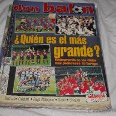 Coleccionismo deportivo: DON BALON Nº 1250. CLUBS MÁS PODEROSOS DE EUROPA. SHEARER. GABRI, RAYO. NUMANCIA EN POSTER.. Lote 49918244