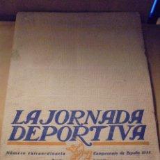 Coleccionismo deportivo: ATHLETIC CLUB BILBAO - EUROPA LA JORNADA DEPORTIVA - NUMERO EXTRAORDINARIO CAMPEONATO DE ESPAÑA 1923. Lote 49942692