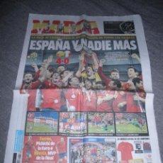 Coleccionismo deportivo: PERIODICO MARCA : ESPAÑA Y NADIE MAS. 2 DE JULIO 2010 *. Lote 50500610