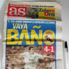 Coleccionismo deportivo: DIARIO AS 1997 VAYA BAÑO REAL MADRID 4 BARÇA 1 SUPERCOPA FÚTBOL DEPORTE RAÚL HIERRO FC BARCELONA FCB. Lote 50541467