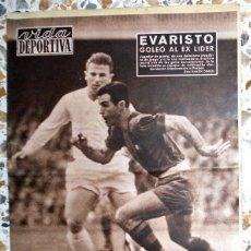 Coleccionismo deportivo - VIDA DEPORTIVA FUTBOL VINTAGE DERBI LIGA 58/59 FC BARCELONA REAL MADRID EVARISTO - 50567242