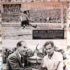 Colecionismo desportivo: VIDA DEPORTIVA FUTBOL VINTAGE FOOTBALL ENGLAND TEAM COPA ATHLETIC FC BARCELONA. TENIS CONDE DE GODÓ. Lote 50567314