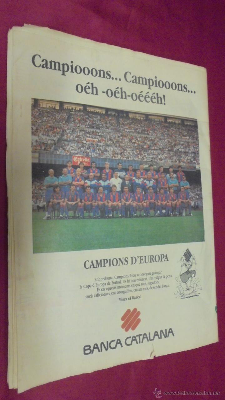 Coleccionismo deportivo: DIARIO SPORT. Nº 4496. 21 DE MAYO 1992. BARÇA, 92: CAMPIO D'EUROPA. CON POSTER. - Foto 3 - 50654195