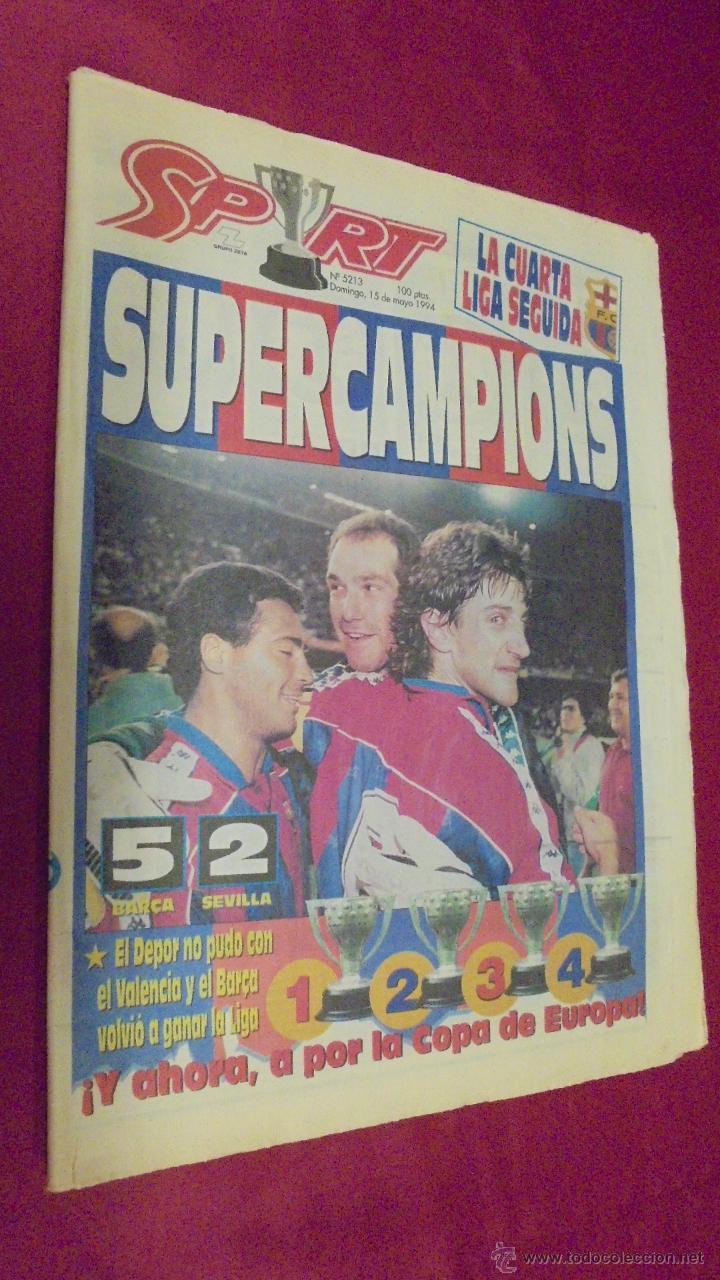 diario sport. nº 5213. 15 mayo 1994. apoteosis - Comprar Periódicos ...