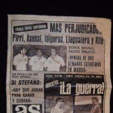 Coleccionismo deportivo: DIARIO AS 13 DE AGOSTO DE 1982.. Lote 50693121
