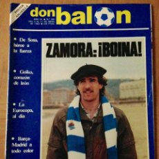 Coleccionismo deportivo: DON BALON 391 REAL SOCIEDAD ZAMORA - POSTER AMARILLA ZARAGOZA - VER CONTENIDO. Lote 42675551