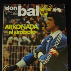 Coleccionismo deportivo: DON BALON 289 REAL SOCIEDAD - ARKONADA - ARCONADA. Lote 42711829